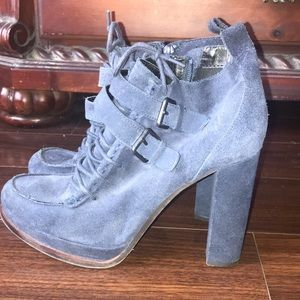 Dolce Vita Navy Buckle Booties
